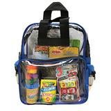 BusyBags - Travel Activity Bag for Kids - Boys & Girls Bags - Hours of Quiet Activities - Clear Durable Backpack - Keep Kids Busy on Planes and Cars - Perfect for Your Toddler (Blue)