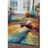 Vida Multi-Color Large 8x10 Area Rug for Living Room - Bedroom or DiningRoom Kitchen Enryway - Boho Modern Carpet - Alfombras para Salas Grandes Modernas