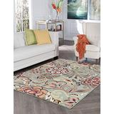 Dilek Seafoam Machine Washable Large 5x7 Area Rug for Living Room and Bedroom Modern Carpet Clearance - Alfombras para Salas Modernas