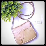 Gucci Bags   Gucci Saddle Bag Crossbody   Color: Cream/Tan   Size: Os