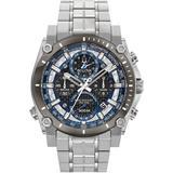 Precisionist Mens Chronograph Stainless Steel Watch - Metallic - Bulova Watches