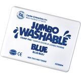 "Center Enterprises Inc Jumbo Stamp Pad Washable, in Blue, Size 7"" H x 5"" W x 1"" D | Wayfair CE-5504"