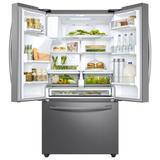 "Samsung 36"" French Door 22.6 cu. ft. Smart Energy Star Refrigerator in Gray, Size 70.0 H x 35.75 W x 31.0 D in   Wayfair RF23R6201SR"