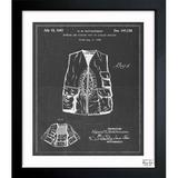 House of Hampton® Hunting & Fishing Vest 1947 - Picture Frame Graphic Art Print on Paper Metal in Black/Brown, Size 32.0 H x 26.0 W x 0.5 D in