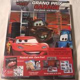 Disney Other   Disney Cars Storybook & Playset Grand Prix Garage   Color: Brown/Black   Size: Osb