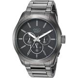 ESQ Men's Multifunction Gunmetal Stainless Steel Bracelet Watch FE/0013