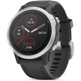 Unisex Fenix 6 Sport Black Silicone Strap Smart Watch 33.02mm - Black - Garmin Watches