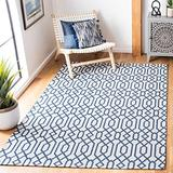 """Safavieh Augustine Collection AGT421M Geometric Area Rug, 6'4"""" x 6'4"""" Square, Navy / Light Grey"""