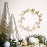 "Capiz Leaf 12"" Wreath - Ballard Designs"