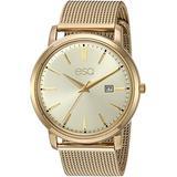 ESQ Men's Gold IP Stainless Steel Mesh Bracelet Watch FE/0042