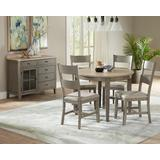 Toronto Round Dining Table in Linen/Weathered Gray - Progressive Furniture D837-13