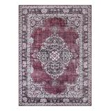 Well Woven Indoor Rugs Red - Red Tarifa Washable Rug