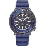 Seiko Solar Diver SNE533 Mens Blue Silicone Rubber Band Chronograph Camo Blue Quartz Dial Watch