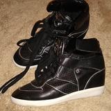 Michael Kors Shoes   Michael Kors High Top Wedge Shoes 6 12m   Color: Black   Size: 6.5