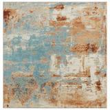 17 Stories Colborne Abstract Aqua Area Rug Polypropylene in Blue, Size 144.0 H x 108.0 W x 0.5 D in   Wayfair 3B0239B786D24410984562B884103B06