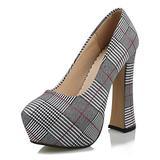 4HOW Womens Platform Pumps Platform Heels Wedding Shoes for Bride Evening Shoes for Women Formal Women Pumps and Heels Wedding Heels Black US 9.5