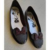 Disney Shoes   Girl'S Minnie Mouse Patent Leather Shoes   Color: Black/Red   Size: 3bb