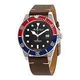 Mathey-Tissot Mathey Vintage Quartz Black Dial Pepsi Bezel Men's Watch H9010ALR