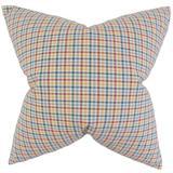 Rosalind Wheeler Araminta Plaid Bedding Sham 100% Cotton in Blue/Red/Yellow, Size 26.0 H x 20.0 W x 5.0 D in   Wayfair