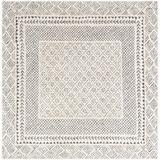 "Union Rustic Calvo Oriental Gray Area Rug Polyester/Polypropylene in Brown/Gray, Size Square 5'3""   Wayfair 46A03E52B8BB4E3A9FC82A2CE7EF7311"