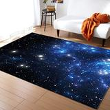 Constellation Large Area Rugs 5' x 7', Throw Carpet Floor Cover Nursery Rugs For Kids, Outer Space Star Nebula Astral Cluster Astronomy Theme Galaxy Mystery Modern Kitchen Mat Rugs For Bedroom