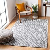 """Safavieh Augustine Collection AGT421G Geometric Area Rug, 6'4"""" x 6'4"""" Square, Anthracite / Light Grey"""