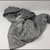 Gucci Accessories | Authentic Gucci Scarf | Color: Gray/White | Size: 28 X 80