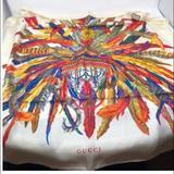 Gucci Accessories | Authentic Gucci Silk Scarf | Color: Cream | Size: 34x34