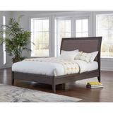 City II Queen-size Upholstered Sleigh Bed in Basalt Gray - Modus 1X57L5D