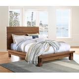 Ocean Queen-size Solid Wood Platform Bed in Natural Sengon - Modus 8C79P5