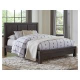 Meadow King-size Solid Wood Platform Bed in Graphite - Modus 3FT3F7