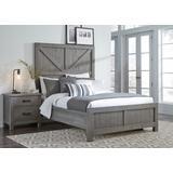 Austin Queen-size Barn Door Panel Bed in Rustic Gray - Modus 9X13F5