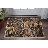 Giselle Brown 2x3 Scatter Mat Area Rug for Hallway, Walkway, Entryway, or Foyer - Contemporary, Abstract