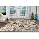 Dilek Ivory Machine Washable 3 Piece Area Rug Set for Home Room and Decor - Modern Carpet - Alfombras para Salas Modernas
