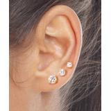 Golden Moon Women's Earrings Gold - Crystal & 14k Gold-Plated Crystal Stud Earrings Set