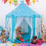 """e-Joy 53"""" W x 53"""" D Indoor/Outdoor Polyester Play Tent Polyester in Blue, Size 55.0 H x 53.0 W x 53.0 D in 