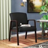 """Alera® Valencia 24.6"""" W Leather Lounge Chair w/ Wood Frame Wood/Leather in Brown, Size 32.67 H x 24.6 W x 26.14 D in 