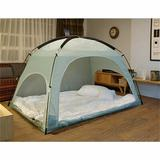 e-Joy Warm Cozy Privacy 4' x 5' Indoor/Outdoor Polyester Tent Bed Polyester in Gray, Size 79.0 H x 59.0 W x 57.0 D in | Wayfair