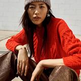 Madewell Sweaters   Madewell Red Cable Knit Sweater   Color: Red   Size: Xs