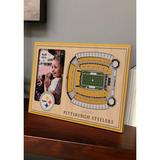 You The Fan Yellow NFL Pittsburgh Steelers 3D StadiumViews Picture Frame - Heinz Field
