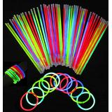 ARB Market 100 Pack Glow Sticks Bracelets Necklaces Neon Color Halloween Decoration Lights, Glowstick Party Favors, Party Bulk Supplies, Neon Light Up Accessories For Kids And Adults (Multi-Color)
