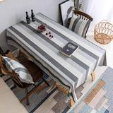 Home Brilliant Table Cloth Stain Resistant Tablecloth for 6 Seats Dining Table Rectangular Table Cover for Kitchen Party (52 x 86 Inches), Dark Grey