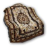 World Menagerie McQuilkin Golden Persian Rug Floral Elegant Tapestry Throw Polyester/Cotton blend in White, Size 60.0 H x 50.0 W in | Wayfair