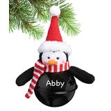 Personalized Planet Ornaments penguin - Black & Red Multicolor Jingle Bell Personalized Ornament - Penguin Black Bell