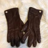 Coach Accessories | Coach Leather Gloves-Sz 7-Never Worn | Color: Brown | Size: 7