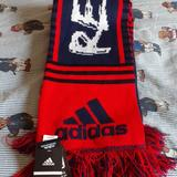 Adidas Accessories | Adidas New England Revolution Scarf Nwt | Color: Blue/Red | Size: Os
