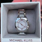 Michael Kors Jewelry | Micheal Kors Watch With Diamonds | Color: Silver | Size: Os