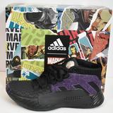 Adidas Shoes | Adidas Dame 5 J Black Panther Basketball Size 4 | Color: Black/Purple | Size: 4b
