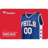 Philadelphia 76ers Fanatics eGift Card ($10 - $500)