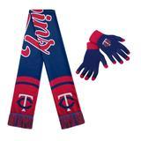 Women's Minnesota Twins Glove and Scarf Set